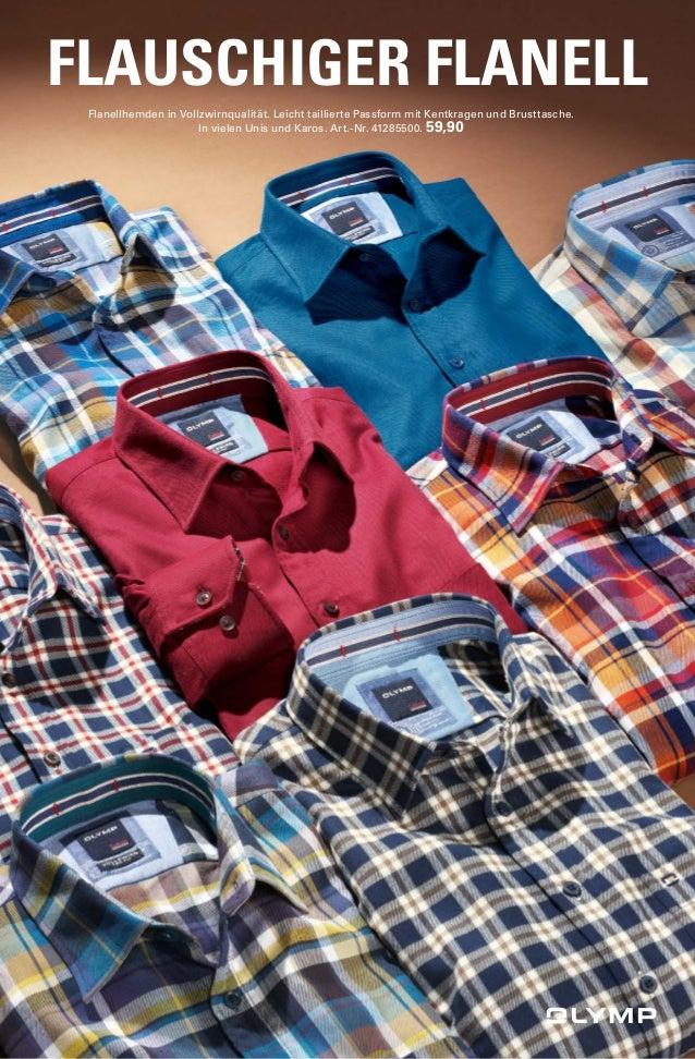 FLAUSCHIGER FLANELL  Flanellhemden in Vollzwirnqualität. Leicht taillierte Passform mit Kentkragen und Brusttasche.  In vi...