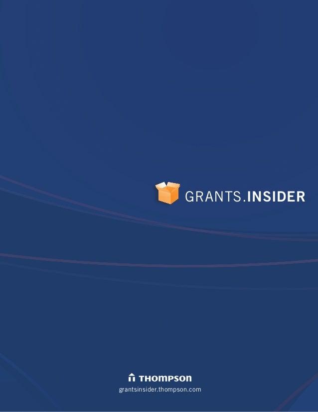 GRANTS.INSIDER grantsinsider.thompson.com