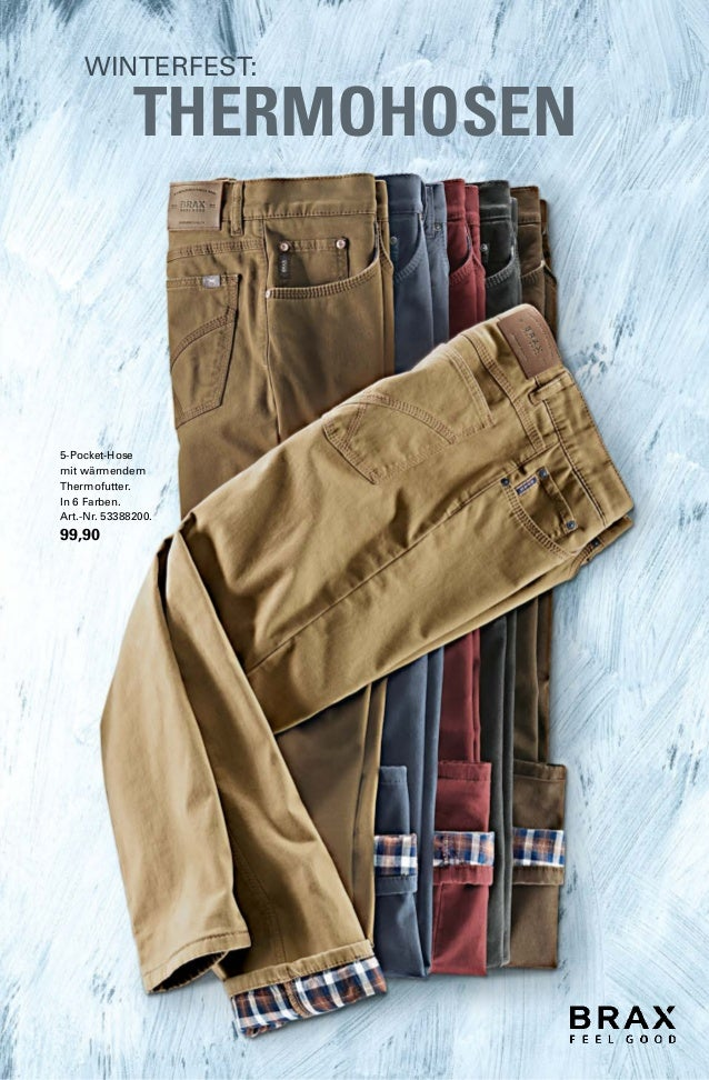 WINTERFEST:  THERMOHOSEN  5-Pocket-Hose  mit wärmendem  Thermofutter.  In 6 Farben.  Art.-Nr. 53388200.  99,90