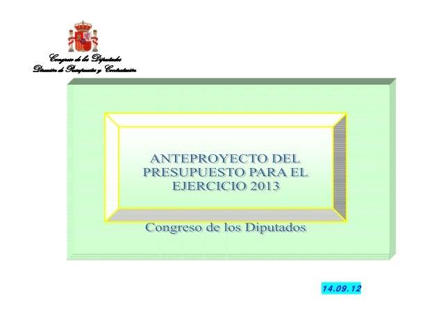 14.09.12Congreso de los DiputadosDirección de Presupuestos y Contratación
