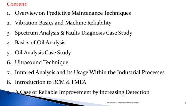 Advanced Maintenance Management Slide 3