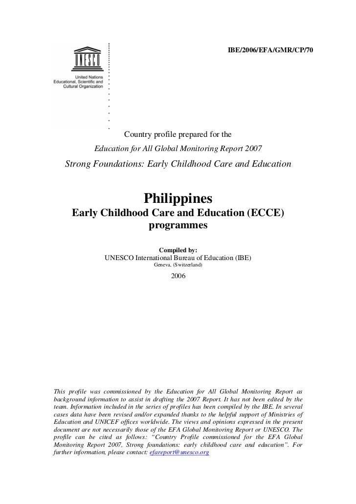 IBE/2006/EFA/GMR/CP/70                          Country profile prepared for the               Education for All Global Mo...