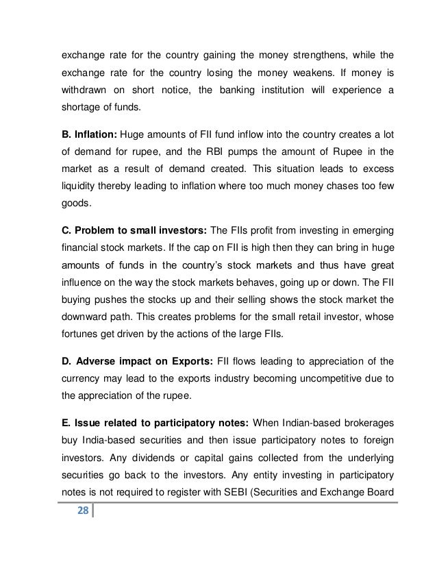 history of fii in india
