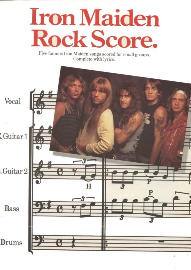 """g s 1 / I I 6 O 5 1 . ... --. -.. ..v .  '. -..  -r 4 . . 9 — """"' ' B I 1 I  Five famous Iron Maiden songs scored for small..."""