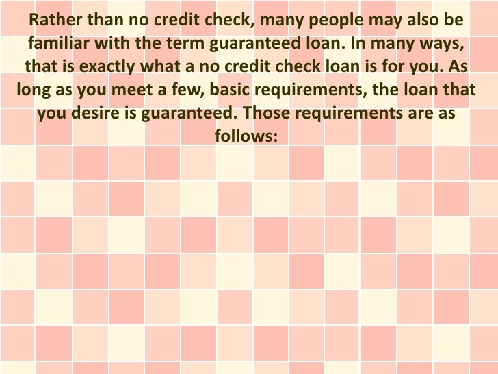 Get a Fast No Credit Check Loan: Bad Credit Doesn't Matter and You Ca…
