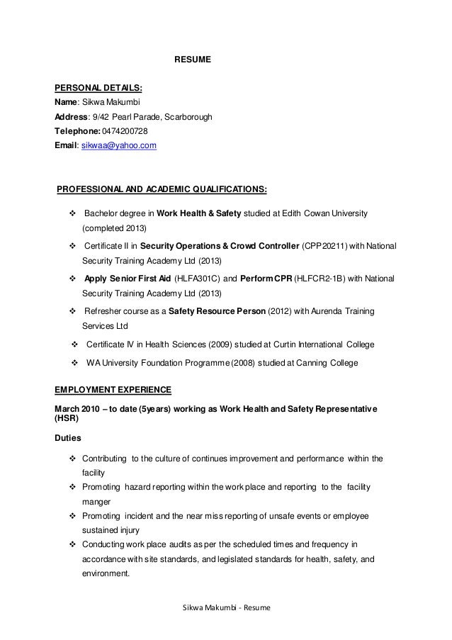 aged care resume samples