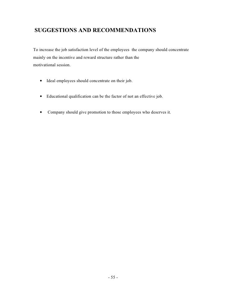 research project report on job satisfaction Full-text paper (pdf): research study on the correlation between employee job satisfaction and employee motivation.