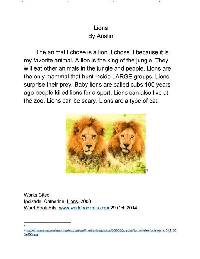 Wild Animals ebook - Mrs. Hawley's Class