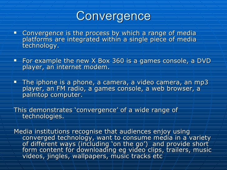 Synergy And Cross Media Convergence