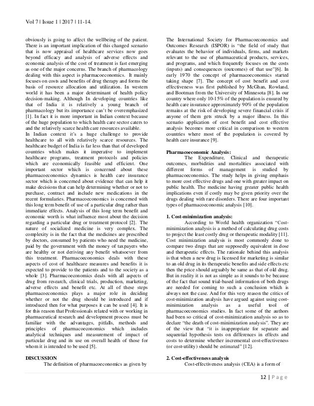 Vol 7 | Issue 1 | 2017 | 11-14. 12 | P a g e obviously is going to affect the wellbeing of the patient. There is an import...
