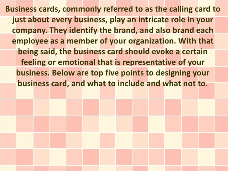 What to include on your business card for What to include on business card