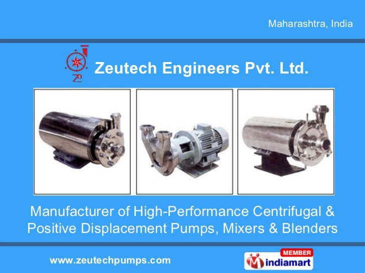Manufacturer of High-Performance Centrifugal & Positive Displacement Pumps, Mixers & Blenders