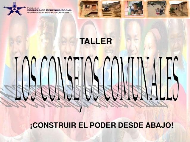 TALLER  ¡CONSTRUIR EL PODER DESDE ABAJO!