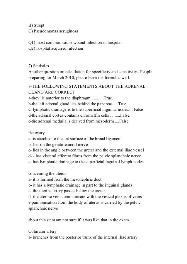 MRCOG II Short Essay Questions – 1st edition