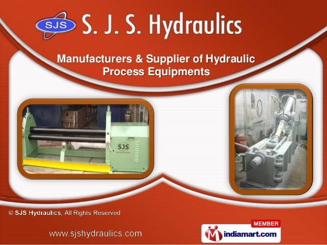 Manufacturers & Supplier of Hydraulic       Process Equipments