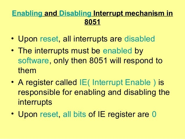 disabling interrupts definition