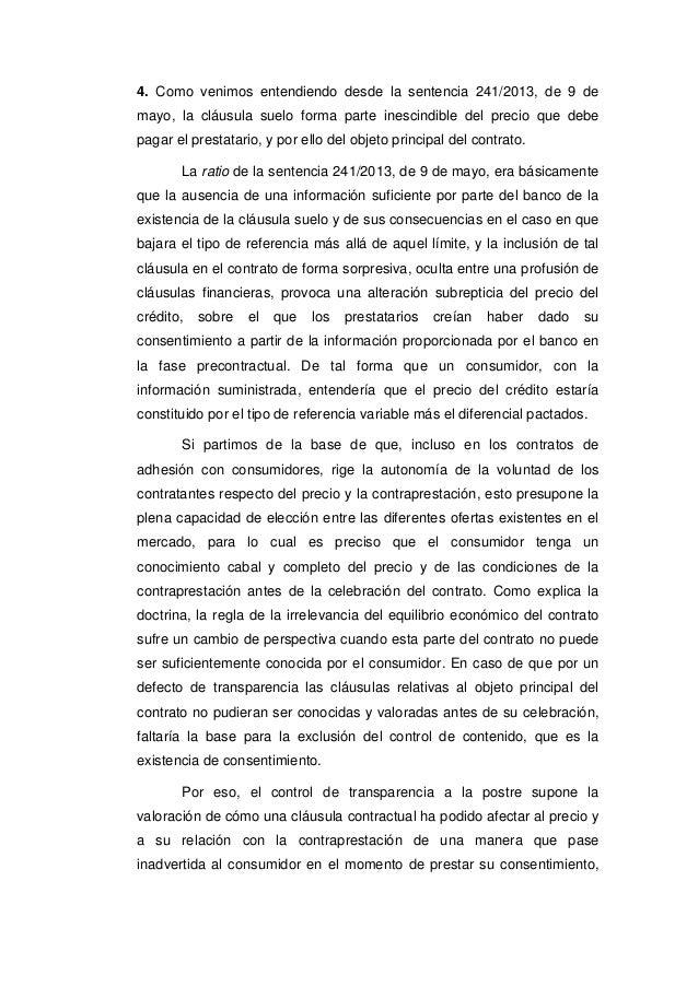 Tribunal supremo 7 de marzo de 2017 clausula suelo for Que es la clausula de suelo