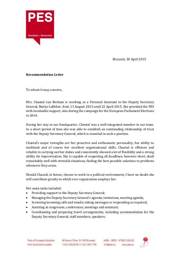 short recommendation letter