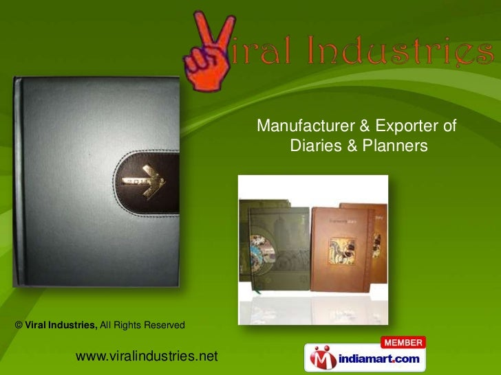 Manufacturer & Exporter of                                             Diaries & Planners© Viral Industries, All Rights Re...