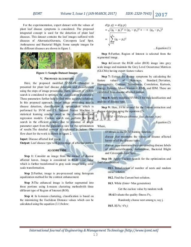 Plant Leaf Disease Analysis using Image Processing Technique with Mod…