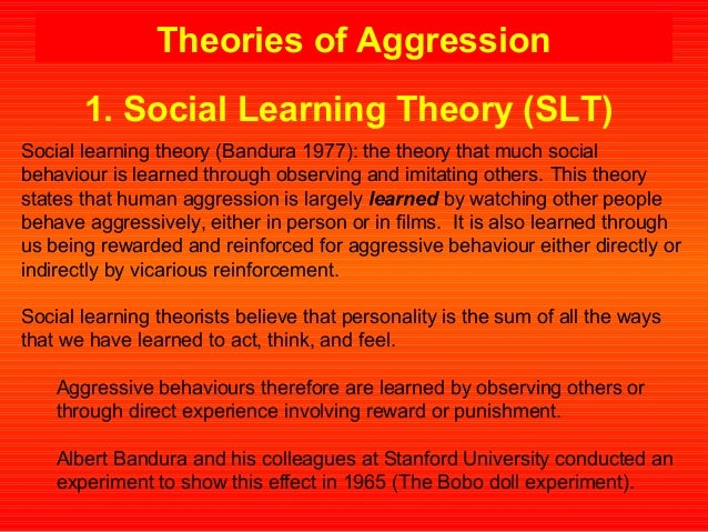 social learning theory and domestic violence Social learning theory --states that violence is a learned behavior and can be precipitated by stress, alcohol abuse, money, or relationships evolutionary theory.
