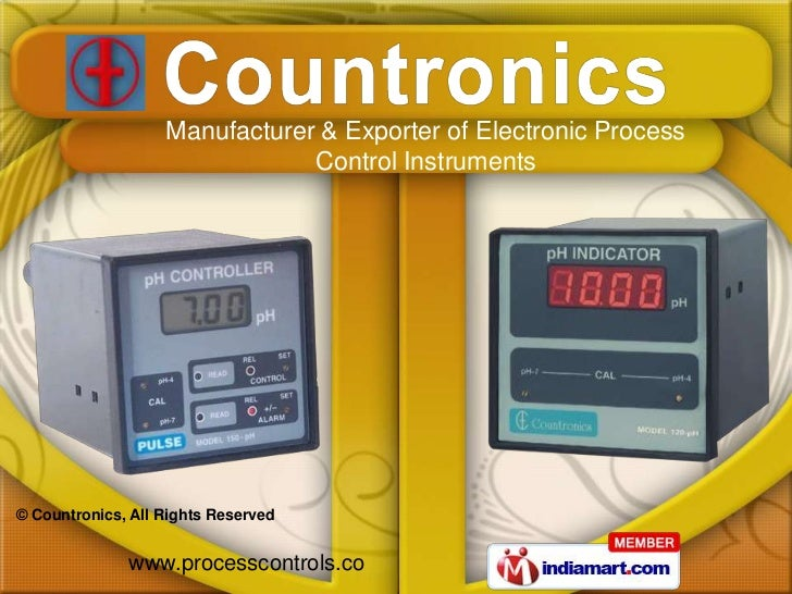 Manufacturer & Exporter of Electronic Process                               Control Instruments© Countronics, All Rights R...
