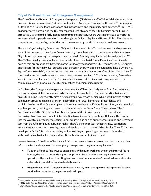 summary report racial equity in emergency management final