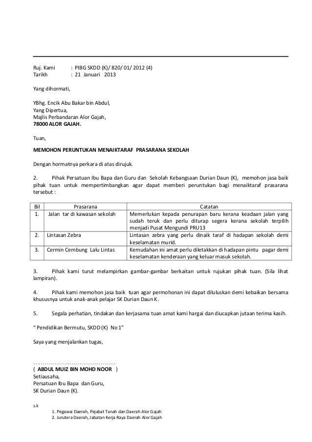 149573533 Surat Mohon Penurapan Semula Tar 2012