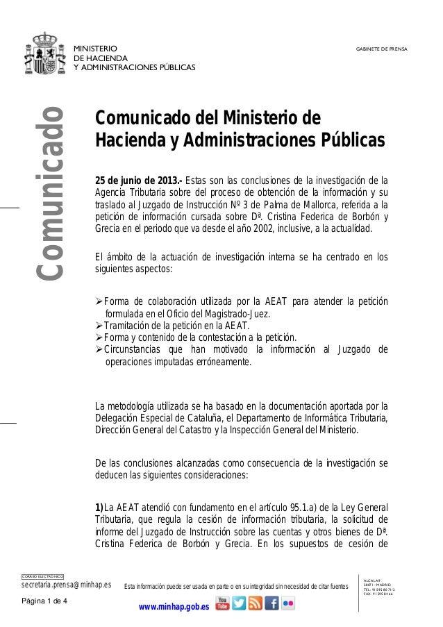 MINISTERIODE HACIENDAY ADMINISTRACIONES PÚBLICASGABINETE DE PRENSACORREO ELECTRÓNICOsecretaria.prensa@minhap.es Esta infor...