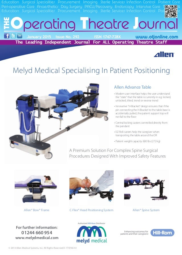 Melyd Medical Specialising In Patient Positioning For further information: 01244 660 954 www.melydmedical.com © 2014 Allen...
