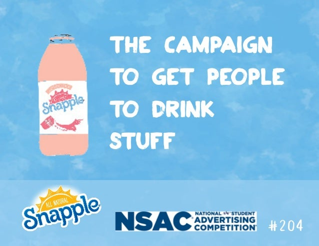 the campaign to get people to drink stuff #204