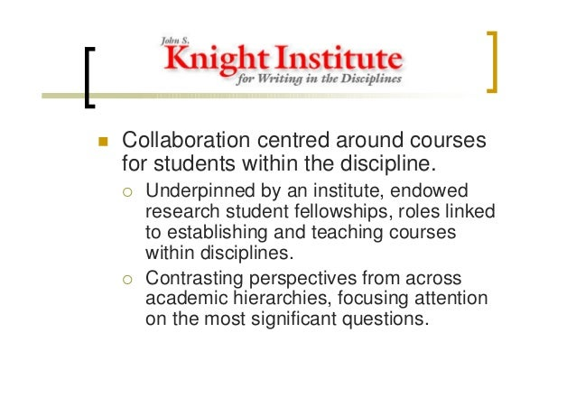 Collaborative Teaching Fellowship ~ A model of collaborative working for higher education