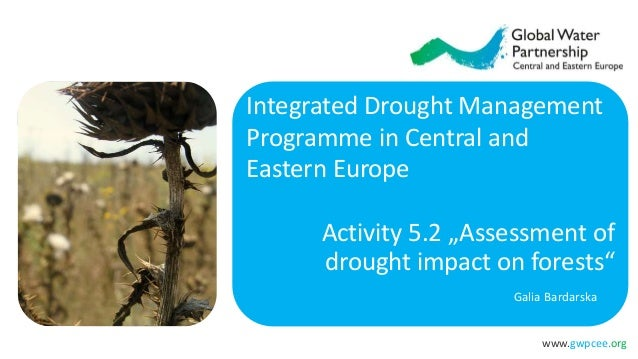 """www.gwpcee.org Activity 5.2 """"Assessment of drought impact on forests"""" Galia Bardarska Integrated Drought Management Progra..."""