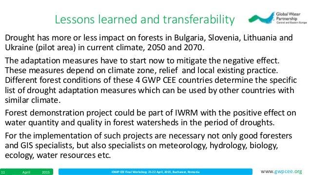 IDMP CEE Final Workshop; 21-22 April, 2015, Bucharest, RomaniaApril 201511 www.gwpcee.org Drought has more or less impact ...