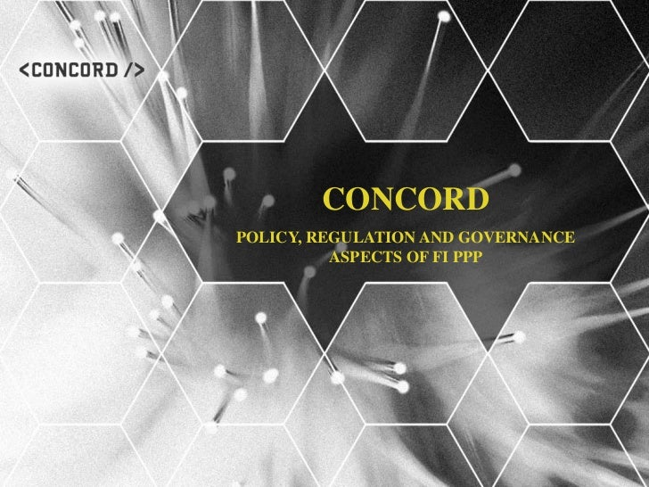 CONCORDPOLICY, REGULATION AND GOVERNANCE          ASPECTS OF FI PPP
