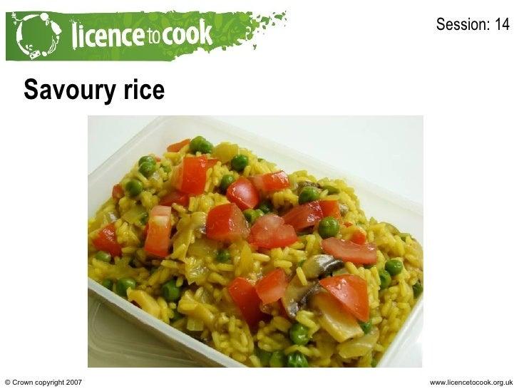 Savoury rice Session: 14
