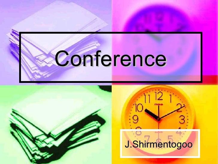 Conference J.Shirmentogoo