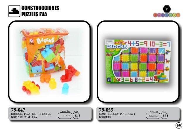 STD.TAMAÑO STD.TAMAÑO CONSTRUCCIONES PUZZLES EVA 193 79-047 BLOQUES PLÁSTICO (75 PZS) EN BOLSA CREMALLERA 27x30x13 12 79-0...