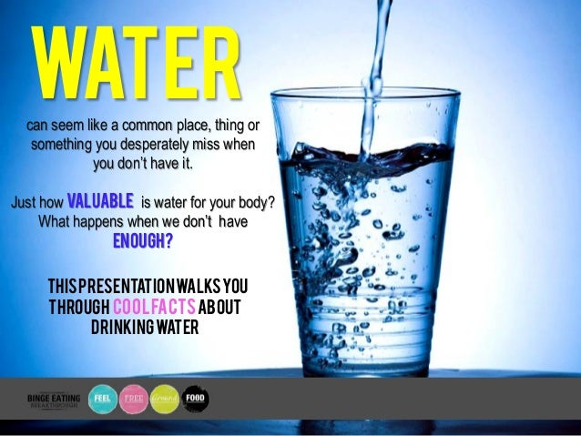 Cool Things You Didnt Know  Drinking Water  Can Seem Like A