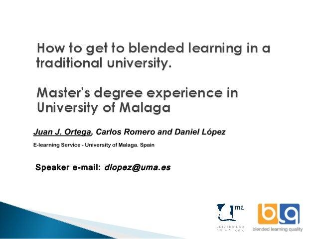 Speaker e-mail: dlopez@uma.es