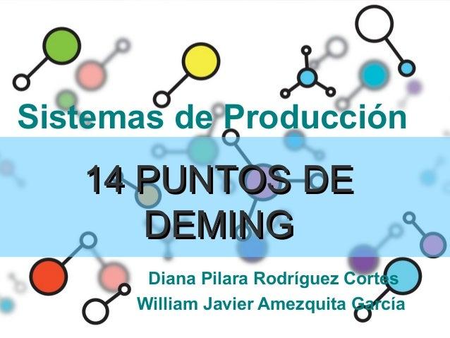 Sistemas de Producción   14 PUNTOS DE      DEMING       Diana Pilara Rodríguez Cortes      William Javier Amezquita García