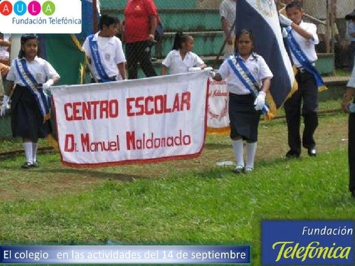 El colegio   en las actividades del 14 de septiembre <br />