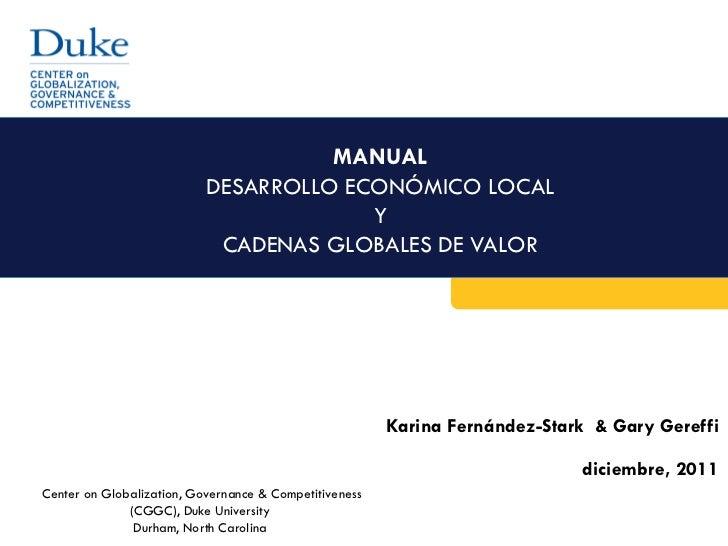 MANUAL                           DESARROLLO ECONÓMICO LOCAL                                        Y                      ...
