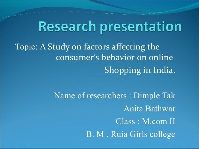 consumer behaviour topics for research