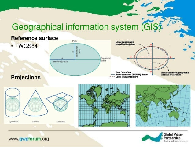 Geographical information system (GIS) Reference surface • WGS84 Projections