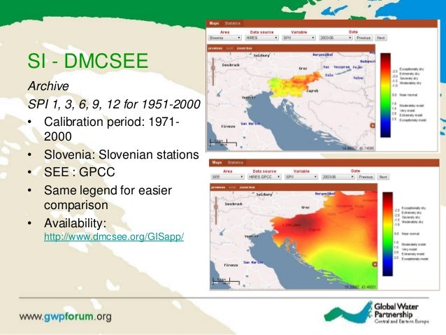SI - DMCSEE Archive SPI 1, 3, 6, 9, 12 for 1951-2000 • Calibration period: 1971- 2000 • Slovenia: Slovenian stations • SEE...