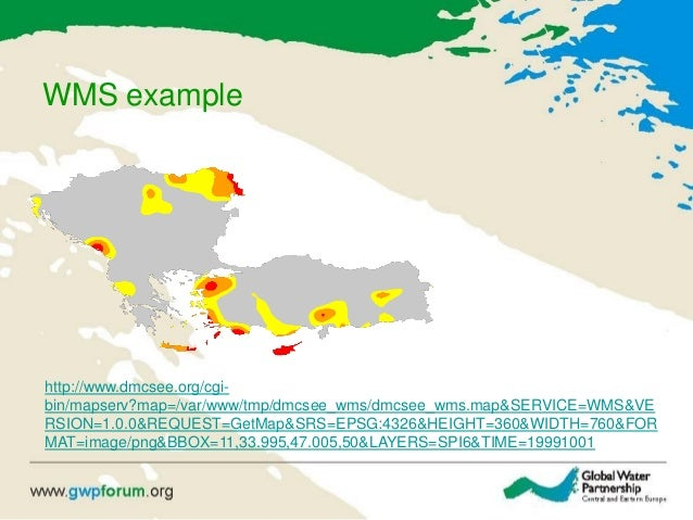 WMS example http://www.dmcsee.org/cgi- bin/mapserv?map=/var/www/tmp/dmcsee_wms/dmcsee_wms.map&SERVICE=WMS&VE RSION=1.0.0&R...