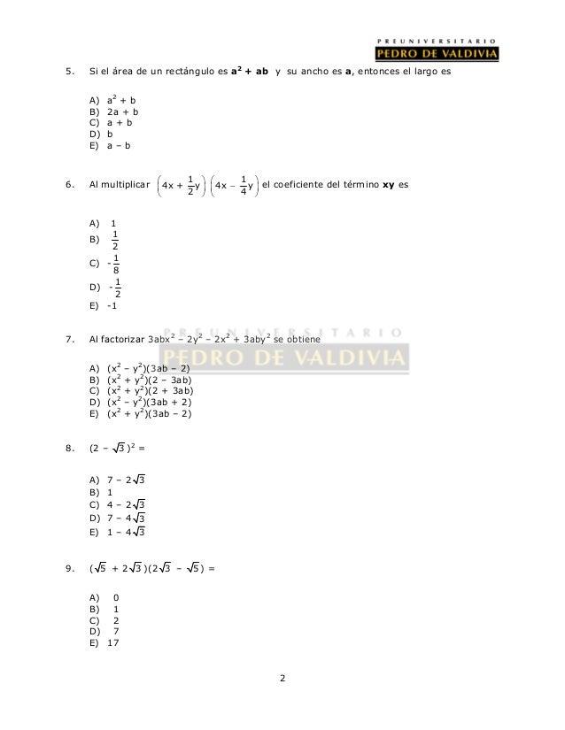 14 ejercicios álgebra de polinomios (parte a) Slide 2