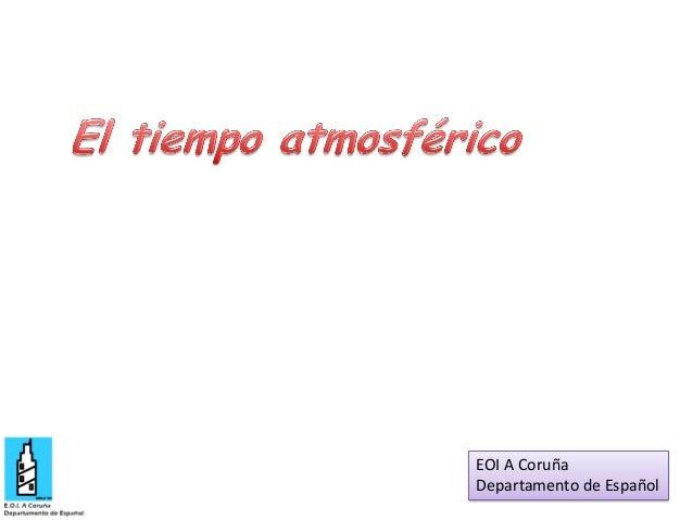 EOI A Coruña Departamento de Español