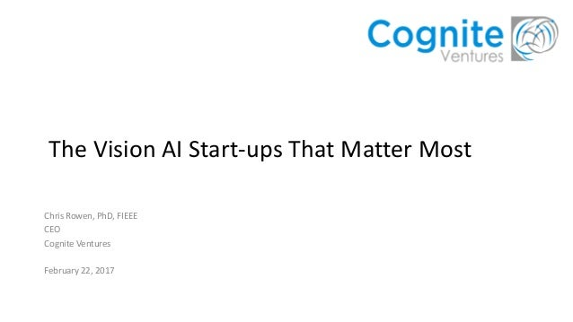 The Vision AI Start-ups that Matter Most